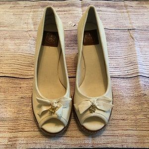 Tory Burch Shoes - Tory Burch Jackie Espadrille Wedge - Ivory